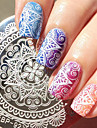 1 pc rond 5.5cm nail art timbre plaque d\'estampage a ongles modele