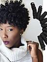 Virkad Bouncy Curl 100% kanekalon hår Hårförlängningar av äkta hår twist Flätor Hårflätor Dagligen
