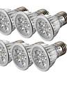 6pcs 4W 360lm E26 / E27 LED-spotlights 4 LED-pärlor Högeffekts-LED Kallvit 85-265V
