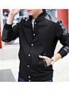 Bărbați Jachetă Clasic & Fără Vârstă - Mată Culoare solidă, Stil Clasic