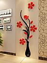 Crăciun Romantic Florale Perete Postituri 3D Acțibilduri de Perete Autocolante de Perete Decorative,Vinil Material Pagina de decorare de