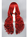 Femme Perruque Synthetique Long Boucle Rouge Perruque de Cosplay Perruque Deguisement
