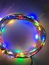 4.5v 2m 20led 3 aa baterii alimentat decorative condus de argint sârmă lanternă fairy lumini pentru nunta de vacanță și petreceri