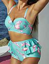 Femei Bikini Femei Cu Susținere Floral Dantelat Acrylic Spandex