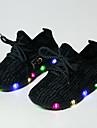 Băieți Pantofi Tul Vară Toamnă Confortabili Primii Pași Pantofi Usori Shoe luminoasă Adidași Dantelă LED Pentru De Atletism Casual Negru