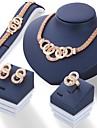 Pentru femei Set bijuterii - Ștras Design Unic Include Auriu / Argintiu Pentru Nuntă / Petrecere / Zilnic / Inele / Σκουλαρίκια / Coliere
