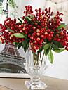 1 gren multicolor acacia bönor växter bordsskiva blomma konstgjorda blommor