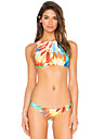 Femei Bikini Femei Cu Susținere Monocolor Floral Sport Dantelat Polyester Spandex