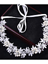 Crystal Imitation Pearl Headbands Headwear Head Chain Hair Tool with Floral 1pc Wedding Special Occasion Outdoor Headpiece