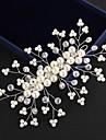 Cristal Imitație de Perle Diademe Banderolele Flori Veșminte de cap Lantul Capului with Floral 1 buc Nuntă Ocazie specială În aer liber