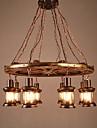 8-Light תַעֲשִׂיָתִי מנורות תלויות תאורה כלפי מטה - סגנון קטן, 110-120V / 220-240V נורה אינה כלולה / 30-40㎡ / E26 / E27
