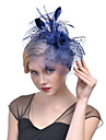 Tulle Feather Net Fascinators Headwear with Floral 1pc Wedding Special Occasion Headpiece