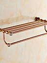Bathroom Shelf Contemporary Brass 1 pc - Hotel bath Double