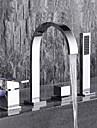 Badkarskran - Nutida Krom Hål med bredare avstånd Keramisk Ventil