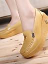 Pentru femei Pantofi Piele Primăvară / Toamnă Creepers Mocasini & Balerini Creepers Alb / Galben