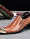 Bărbați Pantofi Nappa Leather Iarnă Primăvară Vară Toamnă Pantofi formale Oxfords pentru Casual Party & Seară Maro Deschis