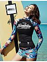 Women\'s Sporty Tankini - Floral Print Boy Leg / Sporty Look