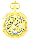 Bărbați Ceas Schelet Ceas de buzunar ceas mecanic Quartz Mecanism automat Aliaj Bandă Auriu