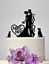 Vârfuri de Tort Personalizat Cuplu Clasic Acrilic Nuntă Aniversare Petrecerea Bridal Shower Temă Grădină Temă Clasică Tema rustic OPP