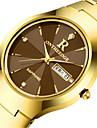 Bărbați Quartz Ceas de Mână Calendar Aliaj Bandă Charm Modă Negru Argint Auriu