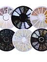 6 pcs Bijoux a ongles Glitters / Neon et lumineux / Mode Quotidien Nail Art Design / Acrylique / Metal