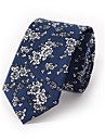 Bărbați Imprimeu Toate Sezoanele Fulare Bumbac Amestec Bumbac,Cravată