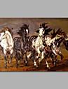 Pictat manual Animale Orizontal, Abstract Modern/Contemporan pânză Hang-pictate pictură în ulei Pagina de decorare Un Panou