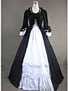 قوطي فيكتوريا العصور الوسطى القرن ال 18 كوستيوم نسائي فساتين أزياء الحفلة حفلة تنكرية أسود عتيقة تأثيري كم طويل شاعر طول الأرض منفوش