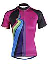 ILPALADINO Maillot de Cyclisme Femme Manches Courtes Velo Maillot Hauts/Top Sechage rapide Resistant aux ultraviolets Compression