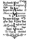 Cuvinte & Citate Romantic Florale Perete Postituri Autocolante perete plane Autocolante de Perete Decorative Autocolante de Nuntă,Vinil