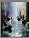 Peint a la main Paysage Retro Un Panneau Toile Peinture a l\'huile Hang-peint For Decoration d\'interieur