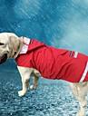 Katt Hund Huvtröjor Regnjacka Hundkläder Enfärgad Röd Blå Oxfordtyg Terylen Kostym För husdjur Herr Dam Ledigt/vardag Vattentät