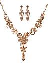 Pentru femei Seturi de bijuterii Acrilic Aliaj Floare Euramerican Modă Petrecere 1 Colier 1 Pereche de Cercei Costum de bijuterii