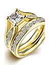Pentru femei Verighete Inel Inel de logodna La modă stil minimalist de Mireasă costum de bijuterii Oțel titan Round Shape Bijuterii Pentru
