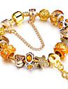 Pentru femei Bratari Strand Prietenie La modă Ελαστικό DIY film Bijuterii bijuterii de lux Placat Auriu AliajCircle Shape Round Shape