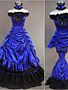 Une Piece/Robes Gothique Lolita Cosplay Vetrements Lolita Retro Mancheron Sans Manches Ras du Sol Robe Pour Autre