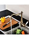 Kitchen faucet - Contemporary Antique Antique Copper Tall / High Arc Centerset