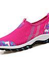 Pentru femei Pantofi Tul Vară Pantofi Flați Plimbare Toc Drept Vârf rotund Combinată pentru Fucsia Gri Deschis Albastru+Roz