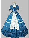 O piesă/Rochii Lolita Stil Gotic lolita Cosplay Rochii Lolita Albastru Vintage Manșon scurt Scurt / Mini Rochie Pentru Alte
