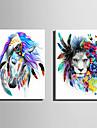 Animal Modern Stil European,Un Panou Canava Vertical print Arta Decor de perete For Pagina de decorare
