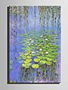 HANDMÅLAD Landskap Vertikal, Retro Duk Hang målad oljemålning Hem-dekoration En panel