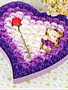 în formă de inimă titular favoarea plastic cu flori cutii cadou-1 nunta favorizează