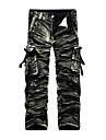 Bărbați Larg Drept Activ chinoiserie Talie Medie,Inelastic Picior Larg Pantaloni Chinos Pantaloni camuflaj