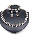 Pentru femei Set bijuterii - Clasic, Modă, Euramerican Include Seturi de bijuterii de mireasă / Κολιέ με Πέρλες Argintiu Pentru Cadouri de Crăciun / Nuntă / Petrecere / Aniversare / Zi de Naștere