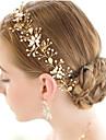 Perle Cristal Aliaj Diadema-Nuntă Ocazie specială Tiare Cordeluțe Lănțișor de cap 1 Bucată