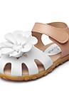 Fete Pantofi Imitație de Piele Vară Confortabili / Pantofi Fata cu Flori Sandale Aplică / Bandă Magică pentru Mov / Fucsia / Roz