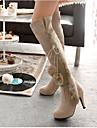 Femme Chaussures Laine synthetique Hiver Confort Bottes de neige Bottes Pour Decontracte Noir Beige