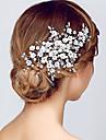 Cristal Diademe Banderolele Flori Veșminte de cap with Floral 1 buc Nuntă Ocazie specială Aniversare Inaugurare a unei case Party / Seara