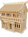 3D Puzzle Jigsaw Puzzle Model Building Kit Famous buildings DIY Natural Wood Classic Kid\'s Unisex Gift