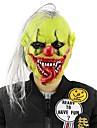 Fierbinte masca de Halloween înfricoșător cu părul perucă verde fata clovn latex măști ușoare pentru Halloween mascaradă costum partid bar